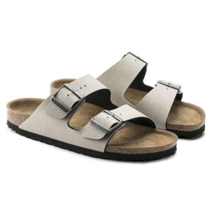 BIRKENSTOCK ARIZONA WOMEN'S FLIP FLOPS PULL UP STONE VEG