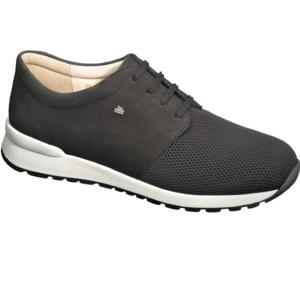 FINN COMFORT MEN'S PERFORATED LEATHER' SNEAKERS LACED ENFIELD BLACK