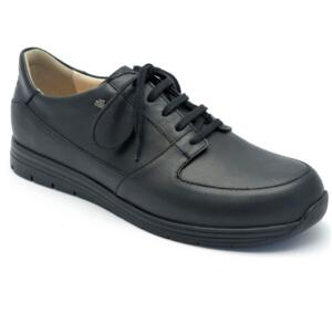 FINN COMFORT MEN'S LACED SNEAKERS VERNON STONE-BLACK-BROWN