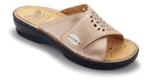 SCHOLL WOMEN'S SLIPPER REMOVABLE FOOTBED SARRE LAMINATED PLATINUM LEATHER