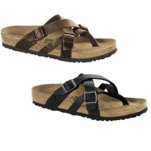 BIRKENSTOCK TEMARA CAMBERRA OLD BLACK TABACCO FLIP FLOPS THONGS MEN'S WOMEN'S