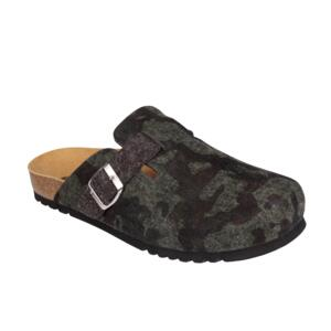 SCHOLL COMFORTABLE MEN'S SLIPPER BIOPRINT TECHNOLOGY AMIATA MAN MILITARE ( CAMOUFLAGE)