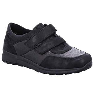 ARA OSLO WOMEN'S COMFORTABLE SNEAKER WITH STRAPS BLACK LEATHER