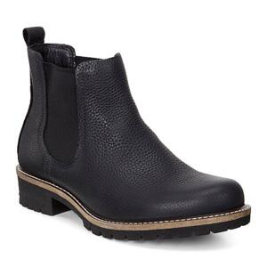 ECCO ELAINE BLACK WOMEN'S ANKLE BOOTS REAL LEATHER