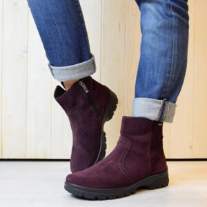 ARA SAS-GT BRUNELL ANKLE BOOTS WOMEN'S SUEDE LEATHER BORDEAUX