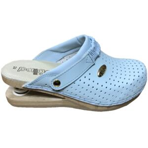 BALDO WOMEN'S CLOGS PALE BLUE FLEX SOLE LEATHER INSOLE