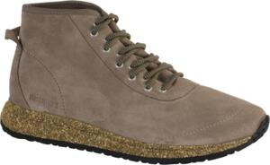 BIRKENSTOCK SHOES ATLIN MEN TAUPE SUEDE VELOUR SNEAKERS LACE-UP