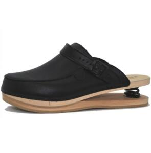 BALDO 5/19 SCA MEN'S CLOG BLACK SCHOCK ABSORBER WITH WOOD SOLE