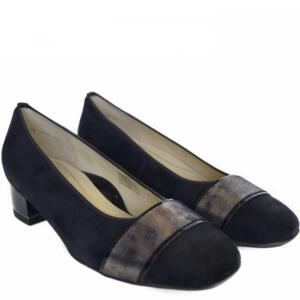 ARA JENNY WOMEN'S COMRTABLE DECOLTE' SUEDE LEATHER NAVY BLUE