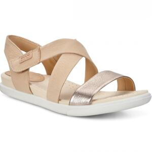 ECCO DAMARA WOMEN'S SANDALS STRAP LEATHER WARM GREY/POWDER