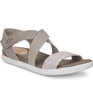 ECCO DAMARA WOMEN'S SANDALS STRAP LEATHER SILVER/WARM GREY