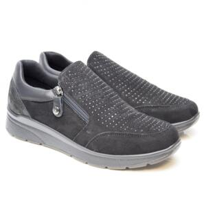 ENVAL SOFT WOMEN'S MOCASSINS WITH GLITTERS BLACK
