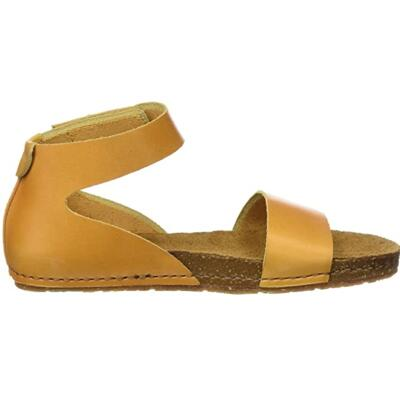 ART WOMEN'S SANDALS GLADIATOR STYLE REAL LEATHER YELLOW SUN