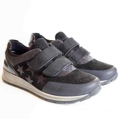 ARA OSAKA WOMEN'S COMFORTABLE SNEAKER WITH STRAPS BLACK LEATHER