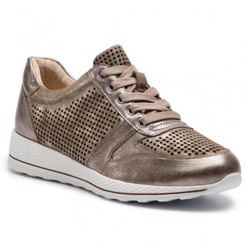 CAPRICE WOMEN'S SNEAKER PERORATED SUEDE LEATHER TAUPE