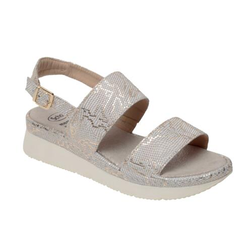 SCHOLL ALLYSON PRLNEA-W  WOMEN'S COMFORTABLE SANDALS OFF WHITE