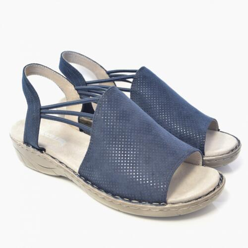 JENNY BY ARA WOMEN'S SANDALS WITH ELASTIC CLOSURE BLUE