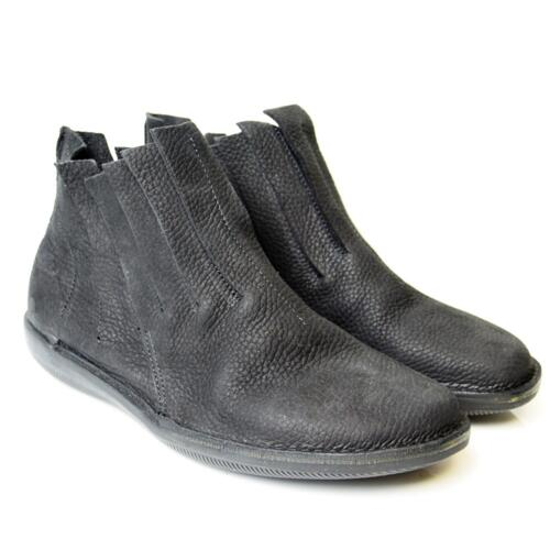 LOINTS OF HOLLAND WOMEN'S ANKLE BOOTS SLIP ON NATURAL LEATHER BLACK