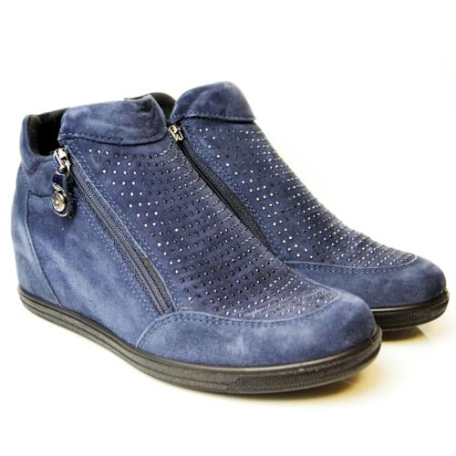 ENVAL SOFT WOMEN'S ANKLE BOOTS SUEDE LEATHER BLUE