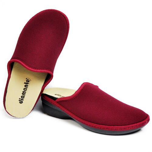 DIAMANTE WOMEN'S SLIPPERS THERMAL FABRIC BORDEAUX