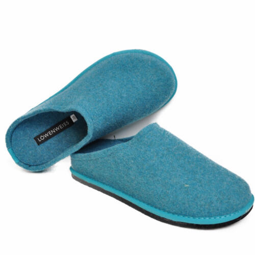 LOWENWEISS EASY WOMEN'S SLIPPERS WOOL TURQUOISE