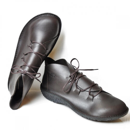 LOINTS OF HOLLAND FUSION WOMEN'S SHOES LACES LEATHER DARK BROWN