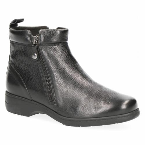 CAPRICE ANKLE BOOTS ULTRA SOFT LEATHER BLACK SIDE ZIPPER