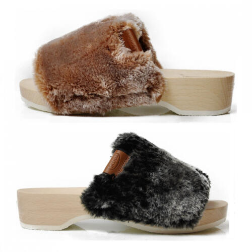 DR.SCHOLL'S PESCURA WILLOW WOOD'S CLOG ECO-FUR BAND
