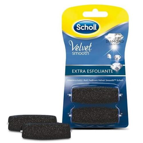 DR.SCHOLL'S VELVET SMOOTH RECHARGE EXTRA EXFOLIATING BRUSH