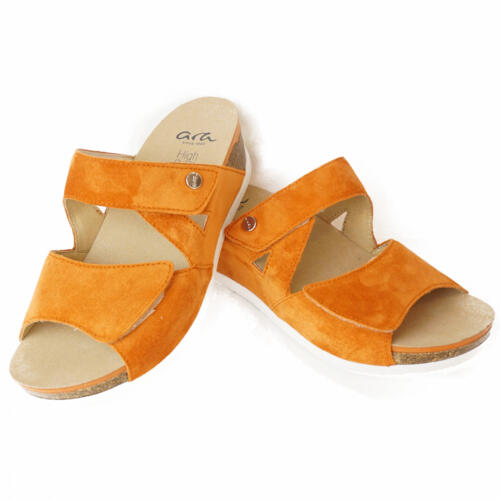 ARA SLIPPERS SUPER SOFT SOLE SOFT SUEDE DOUBLE STRAPS